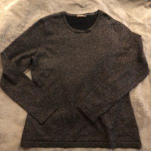 J McLaughlin Black - Gold Glitter Sweater